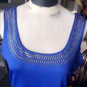 Cache royal blue top size M